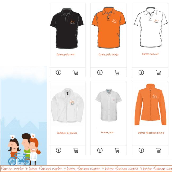 Werkkleding bestelsysteem voor medewerkers