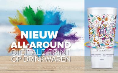 Full colour bedrukken rondom op drinkwaren